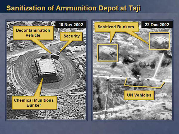 Satellite imagery of an Ammunition Depot in Taji, Iraq. Used deceptively, they provide an example of the need for ethical machine learning. These materials are reproduced from www.nsarchive.org with the permission of the National Security Archive.