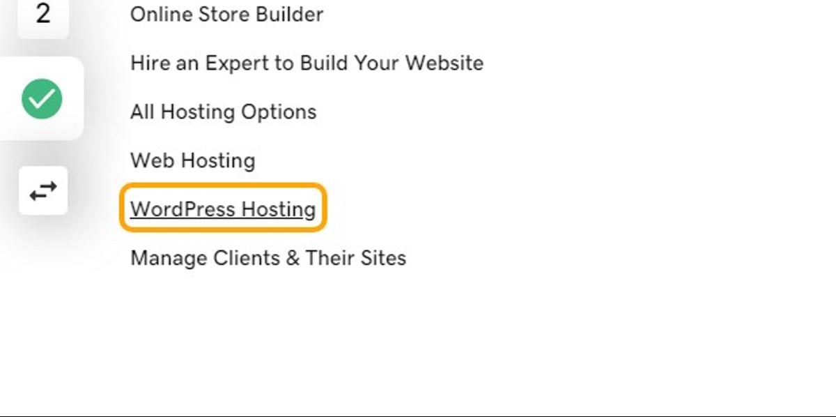 Click on WordPress Hosting