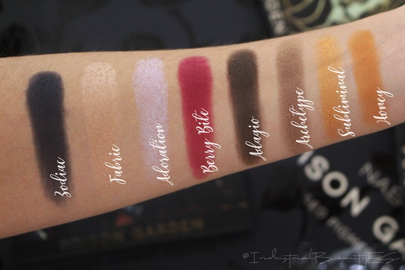 poison garden swatches