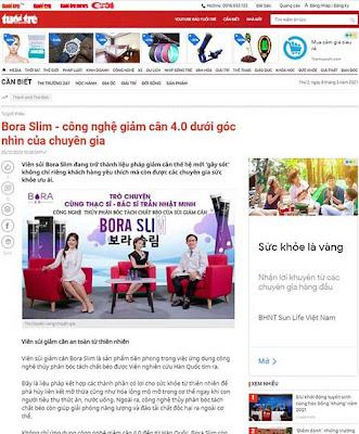 Các tờ báo nổi tiếng nói về Viên sủi giảm cân Bora Slim