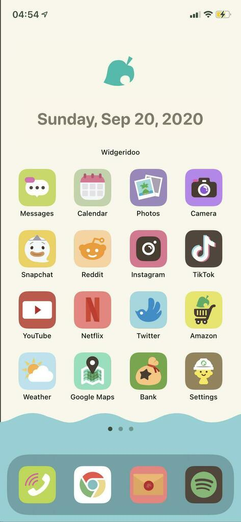 Turn your iPhone into a NookPhone with this amazing Animal Crossing custom layout