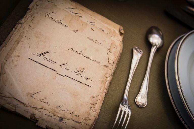 El cuaderno de recetas que perteneció a María Varela de Beccar
