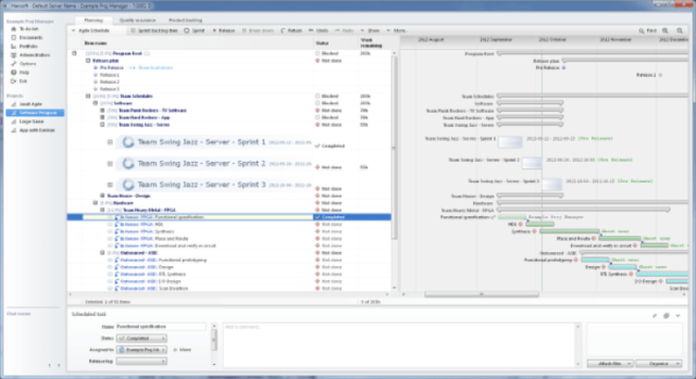 hansoft screenshot
