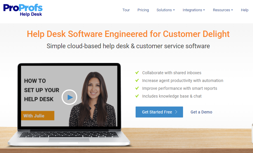 ProProfs help desk software for customer support