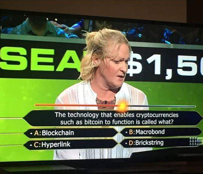 blockchain bitcoin on who wants to be a millionaire