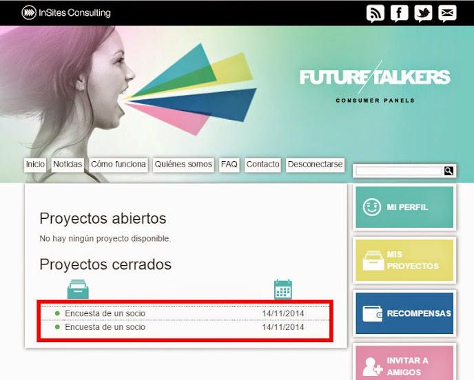 future talkers encuestas remuneradas