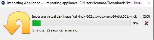 Virtual Hacking Lab - Import Kali Linux VirtualBox VM. Source: nudesystems.com