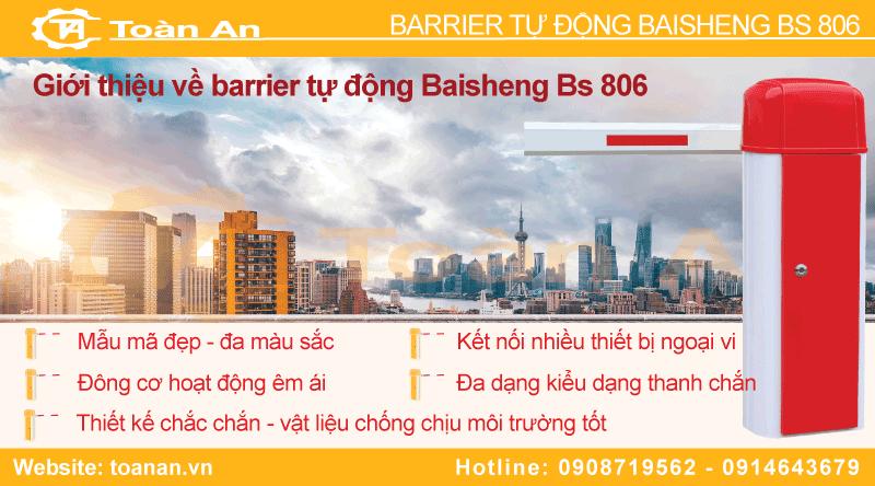 Giới thiệu về barrier tự động baisheng bs 806.