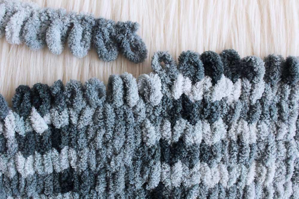 loop knit blanket