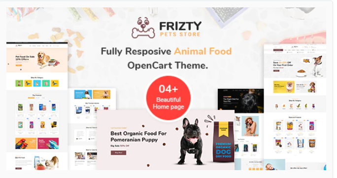 best Opencart food store theme