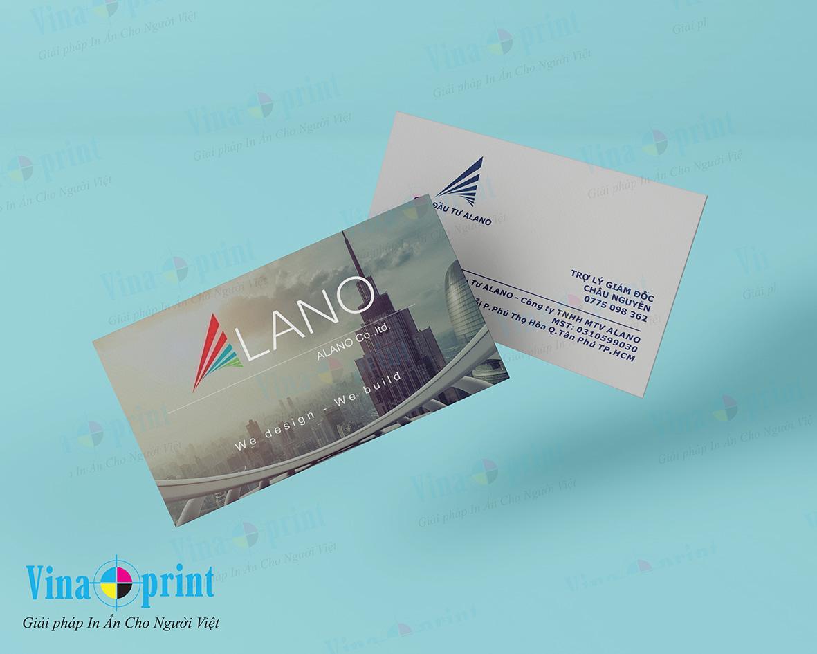 Dịch vụ in name card hcm giá rẻ, chất lượng cao