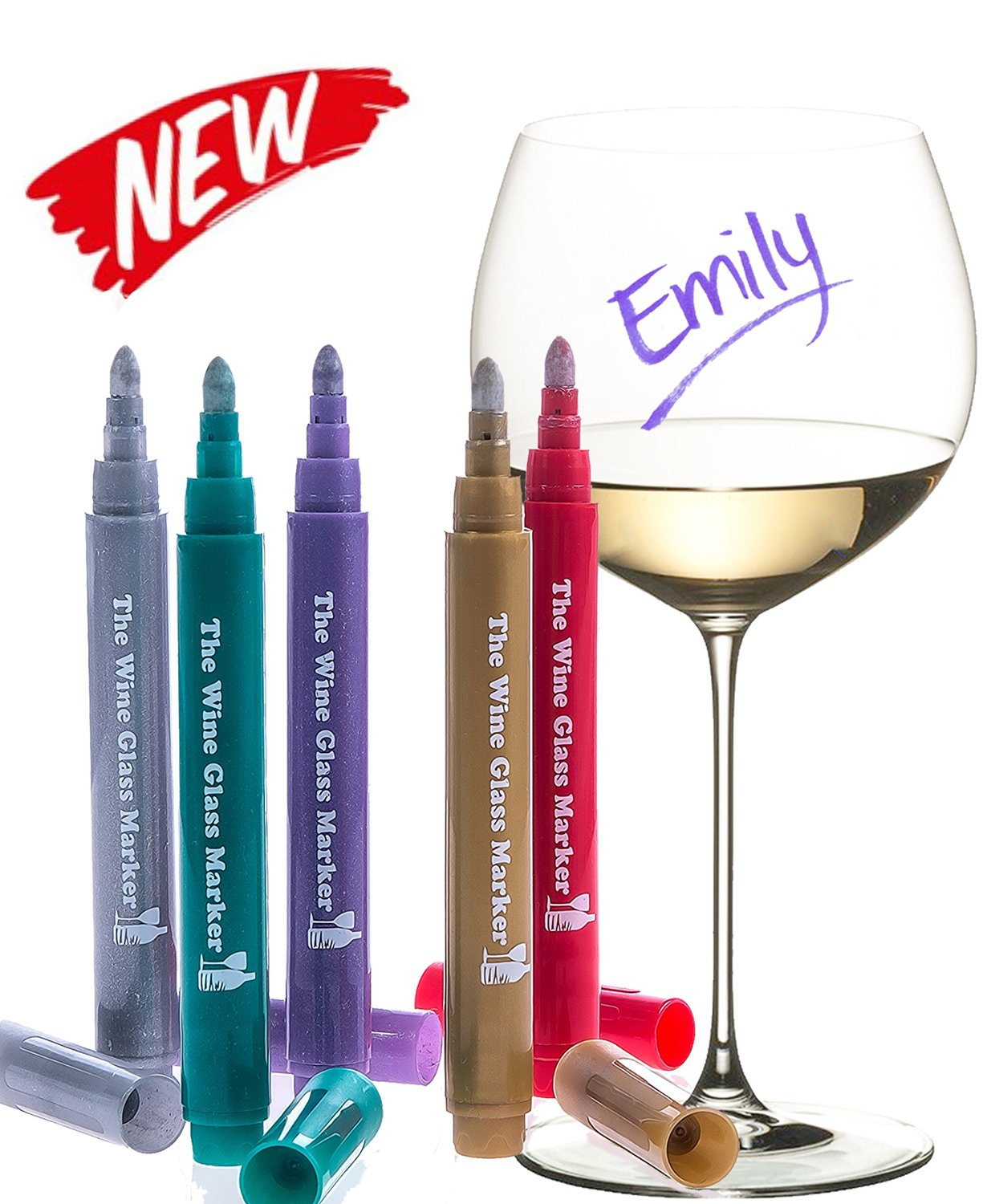 the original wine glass markers
