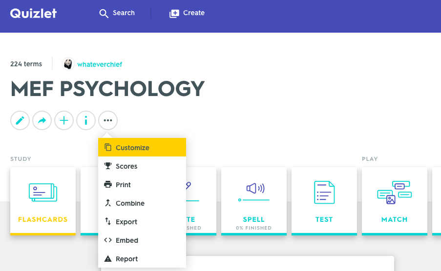 How to Create a Customized List from Quizlet - MEF ...