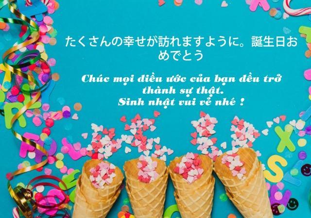 Học tiếng Nhật qua bài hát Chúc mừng sinh nhật