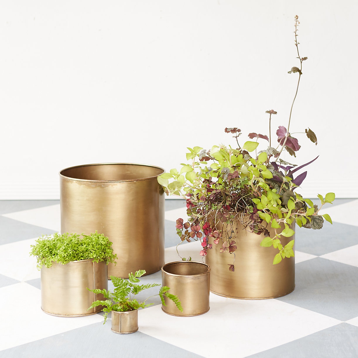 iron cylinder pots for wedding table decorations