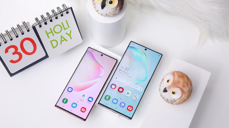 Điện thoại Samsung Galaxy Note 10 | Thiết kế mặt trước