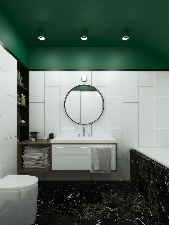 Green and white bathroom ideas: colour inspiration for ...