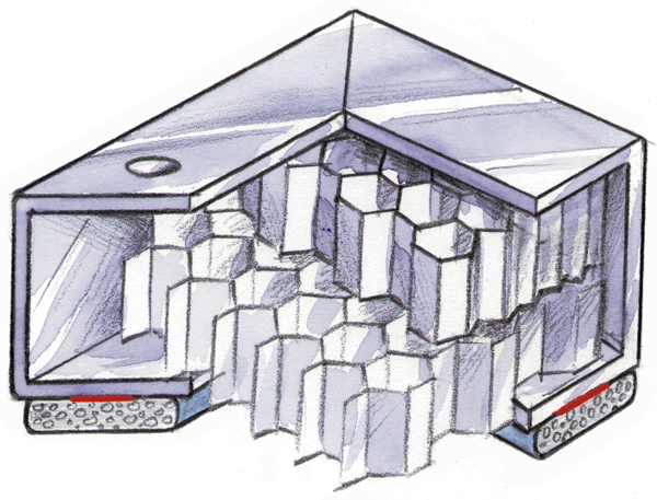 Figure 79.1 : Example of a cross-cell Honeycomb ventilation panel