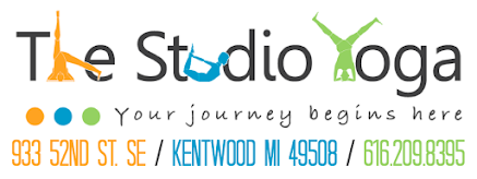 The Studio Yoga / 933 52nd Street SE / Kentwood MI 49508 / 616-209-8395 / info@thestudioyoga.com