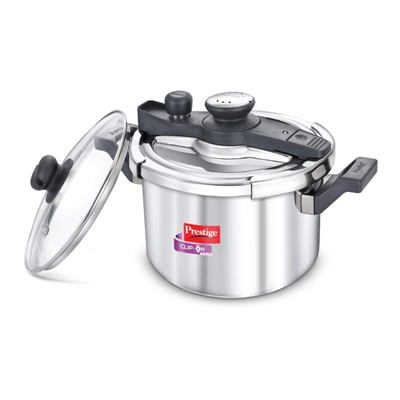 Prestige Svachh Clip-on 5 Litre Stainless Steel Pressure cooker