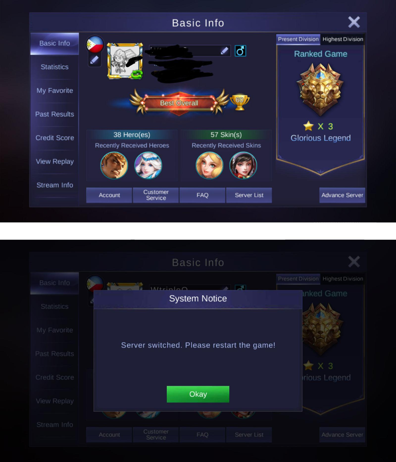 GUIDE] Account Problem - Bug Report - Mobile Legends: Bang Bang