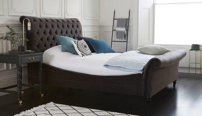 Giường ngủ bọc nỉ kiểu mới