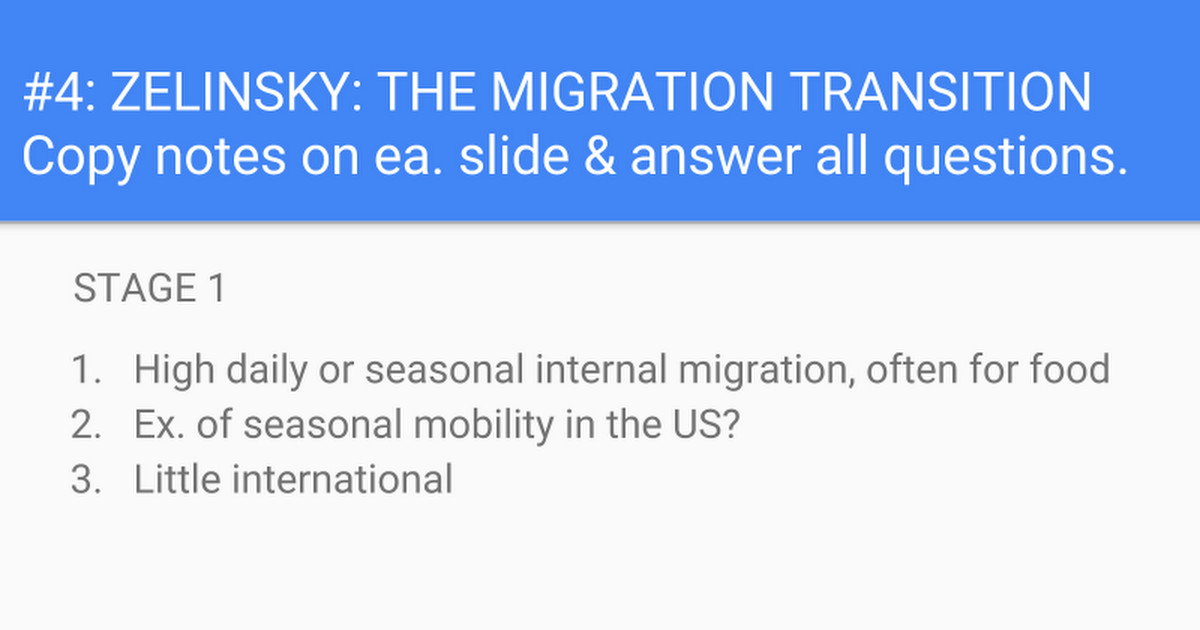 4 Zelinsky The Migration Transition Google Slides