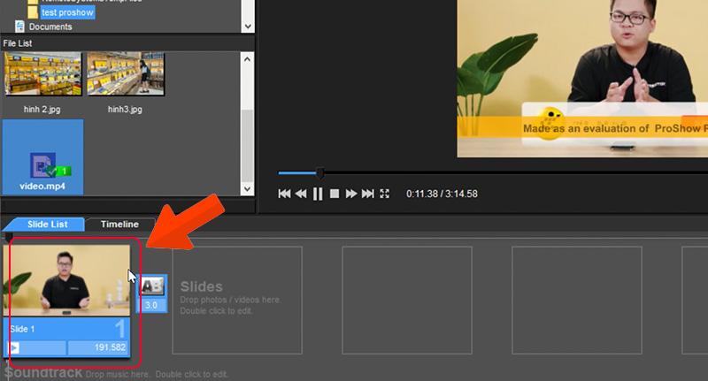 Click đúp chuột vào video