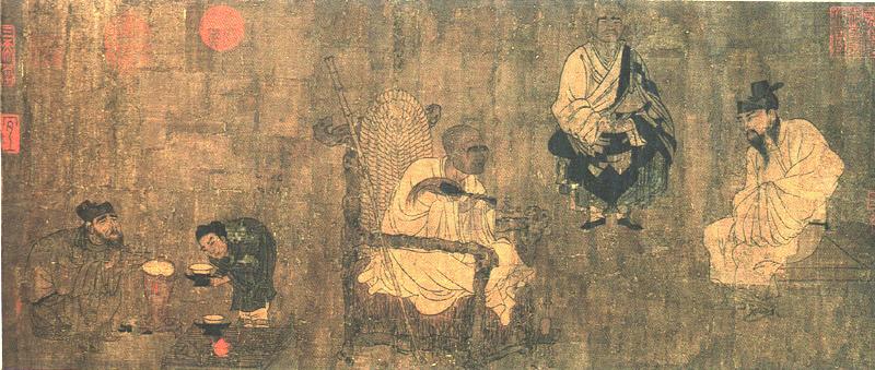 Янь Либэнь, «Сяо И пытается выманить «Свиток Павильона Орхидей», 7 век нашей эры