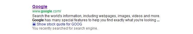 Examples of Great Meta Descriptions - Google