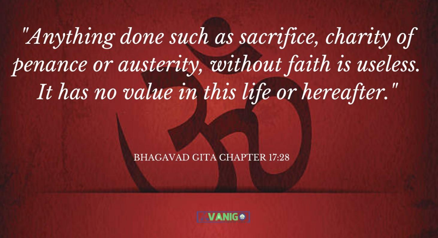 Bhagvad Gita Chapter 17:28