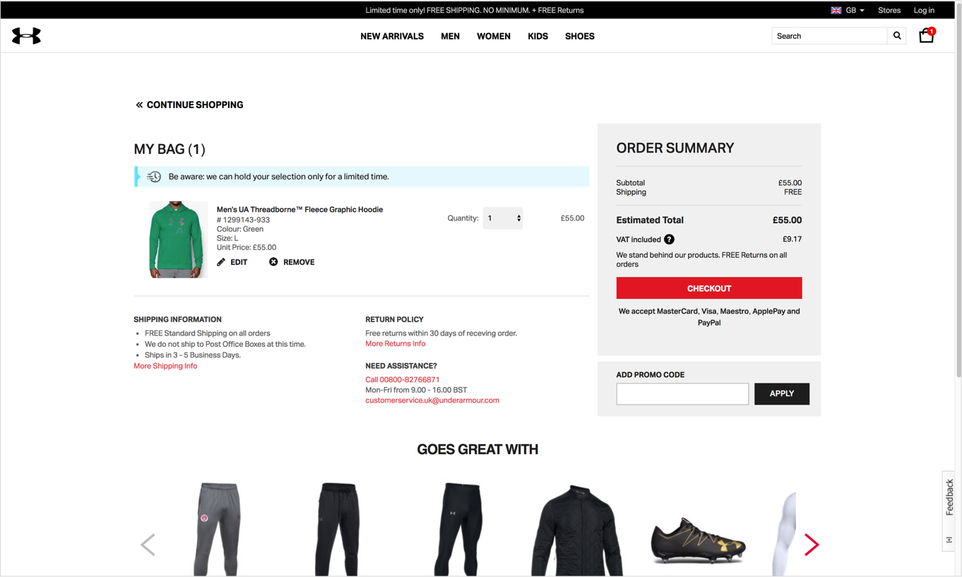 conversion funnel optimization shopping cart page