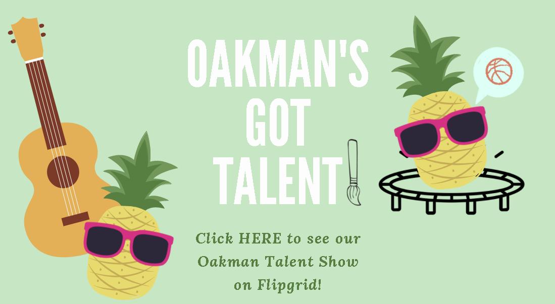 K-5 Oakman Talent Show FlipGrid
