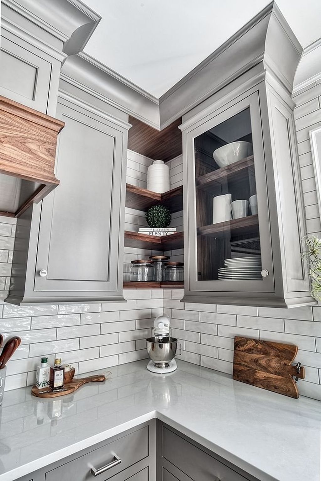 farmhouse grey kitchen cabinets