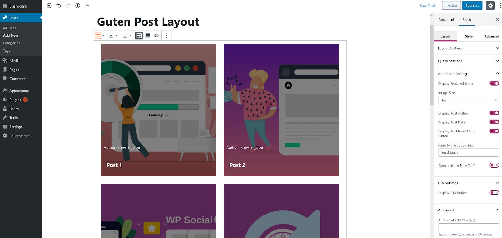 Guten Post Layout, Best WordPress Blog Layout Plugins