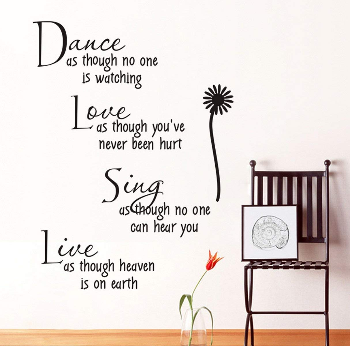Modern Inspirational Quote For Home Wall Sticker - Colorful Wall Art