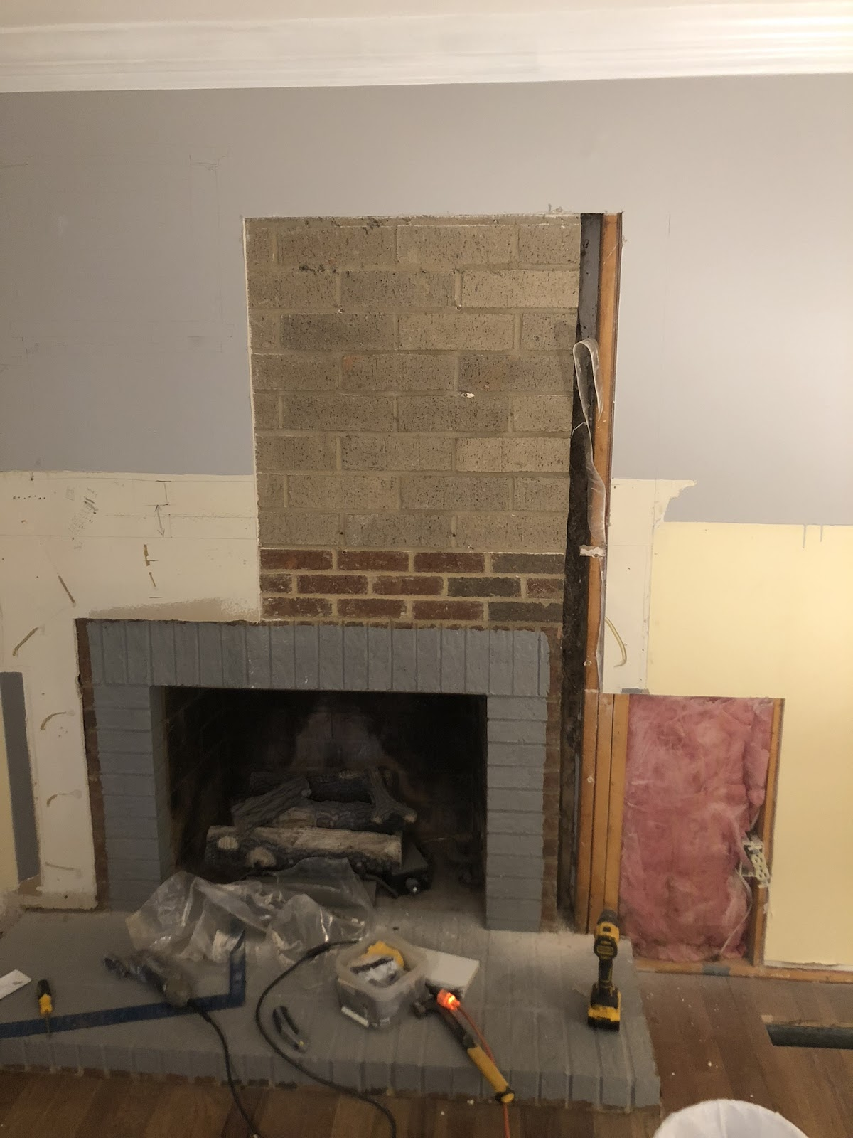 how to install a shiplap fireplace