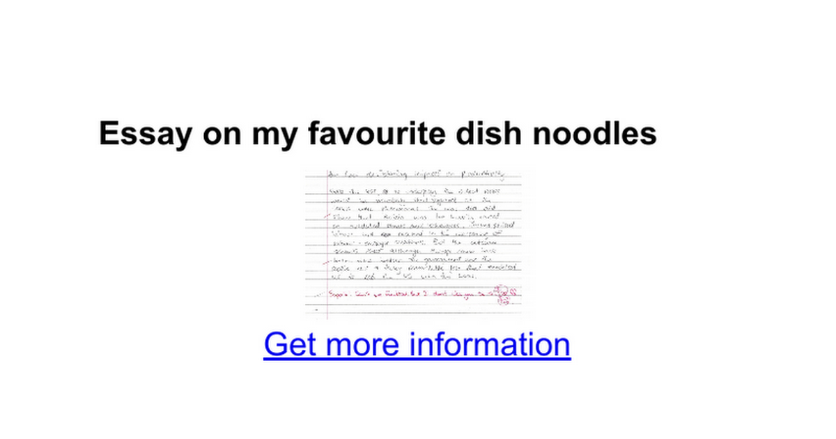 essay on my favourite dish noodles google docs