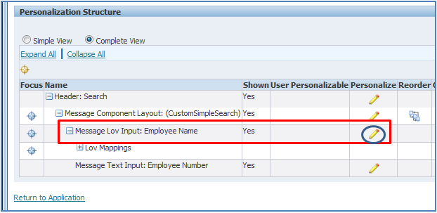 Personalize search in OAF personalizations