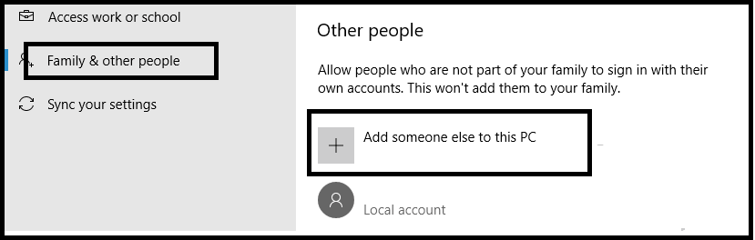 Fix Error Code 0x87AF000B By creating another administrator account