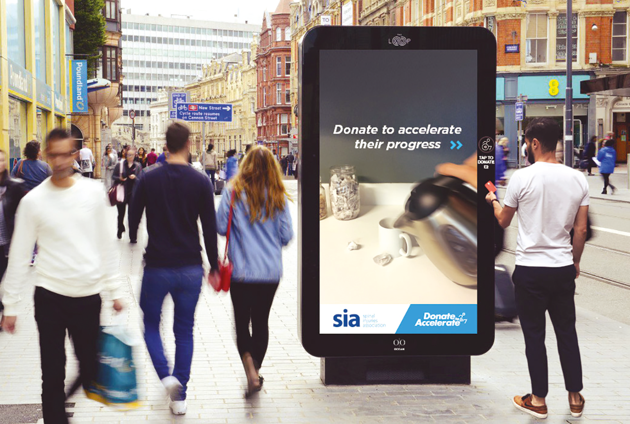 Charities have embraced digital billboards with the ability to get donations in the moment by using interactive outdoor advertising that appeals to emotions.