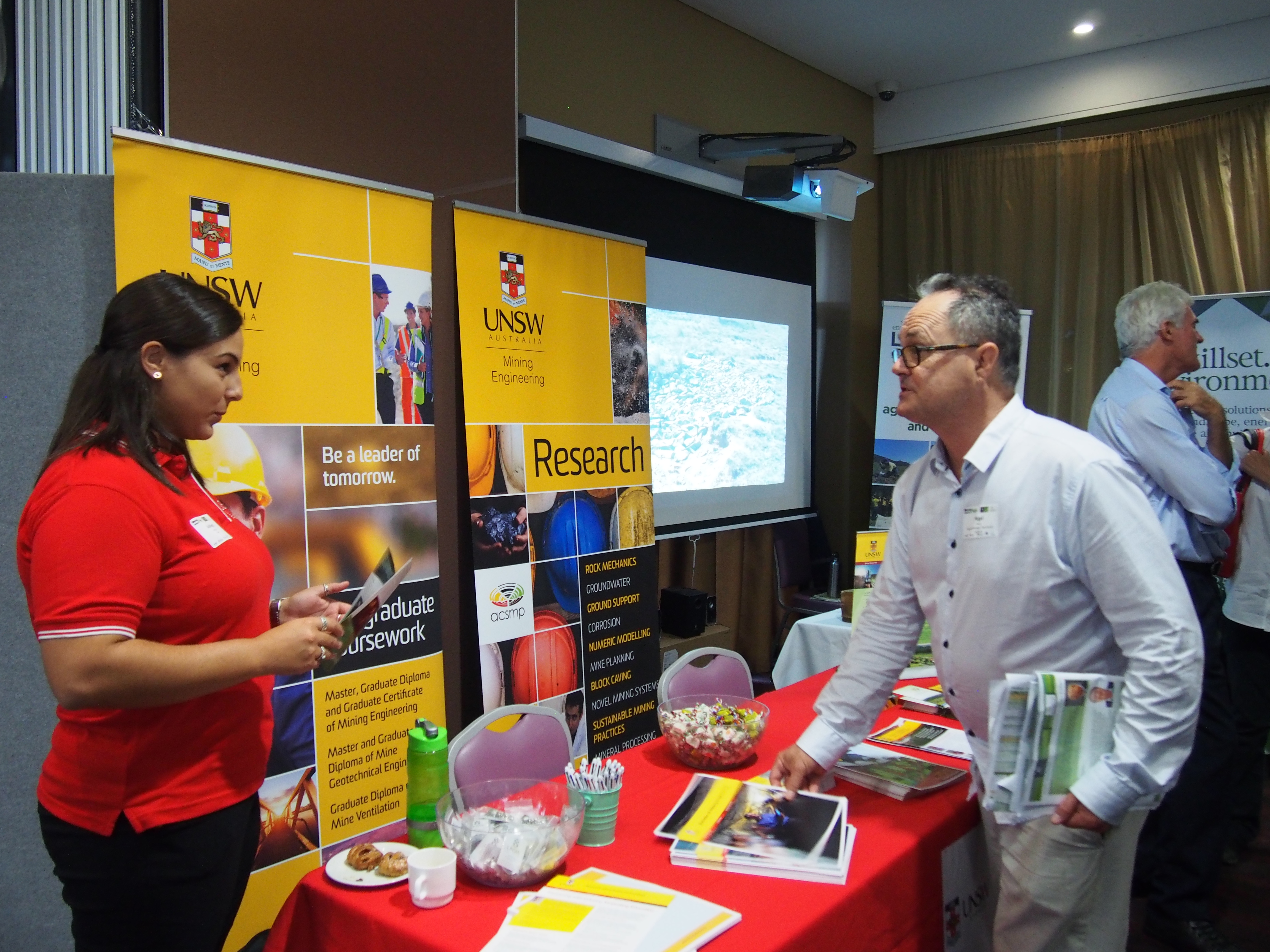 Session sponsor UNSW, also utilised an exhibition space