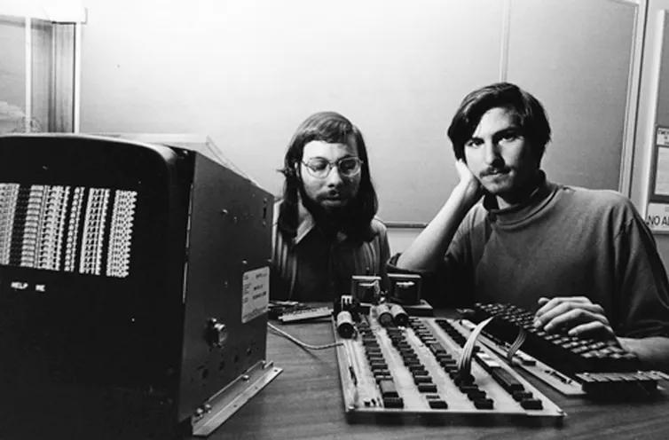 Steve Jobs et Steve Wozniak  en 1976