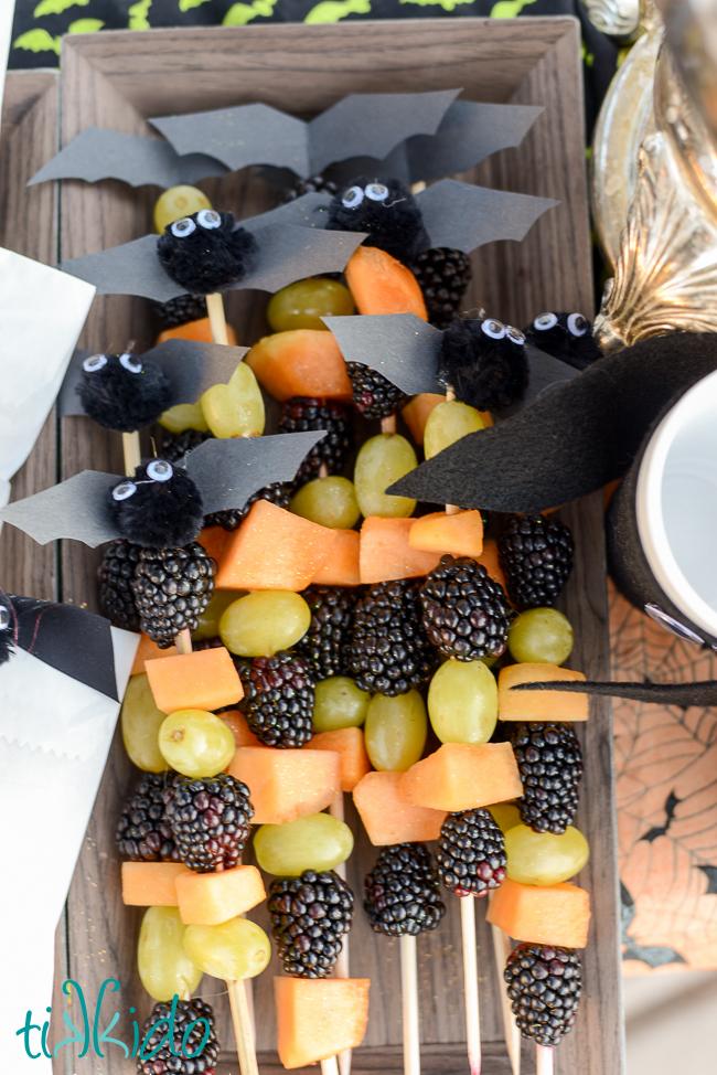 Fruit bat skewers
