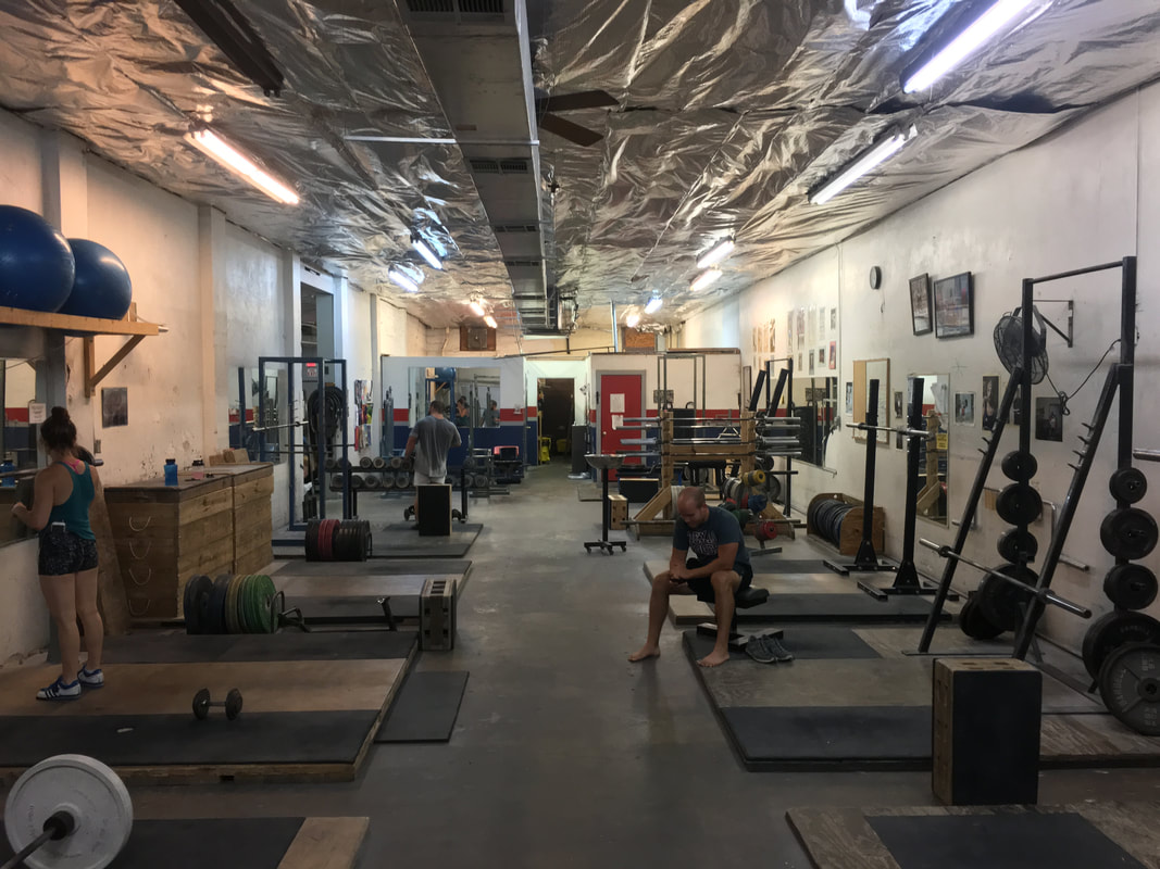 Hyde Park Gym's minimalist approach to gym equipment.