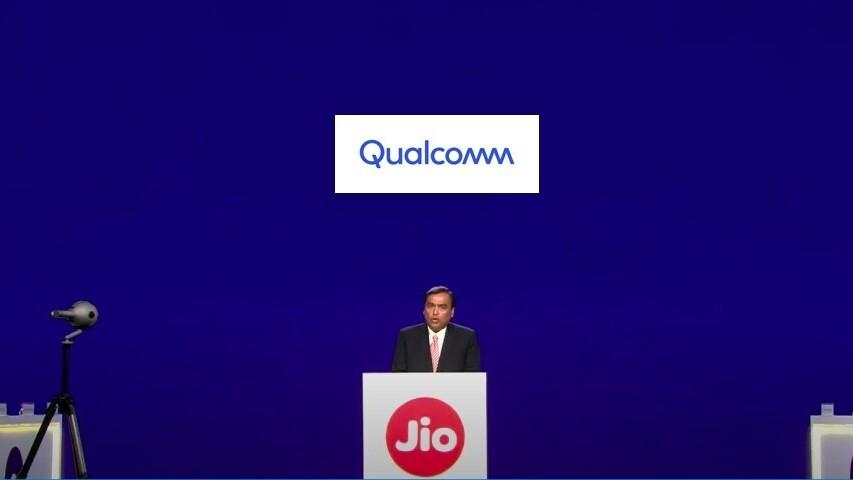The announcement ceremony of Jio x Qualcomm