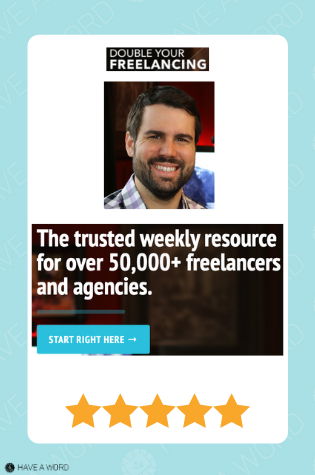 Double your freelance rate course review