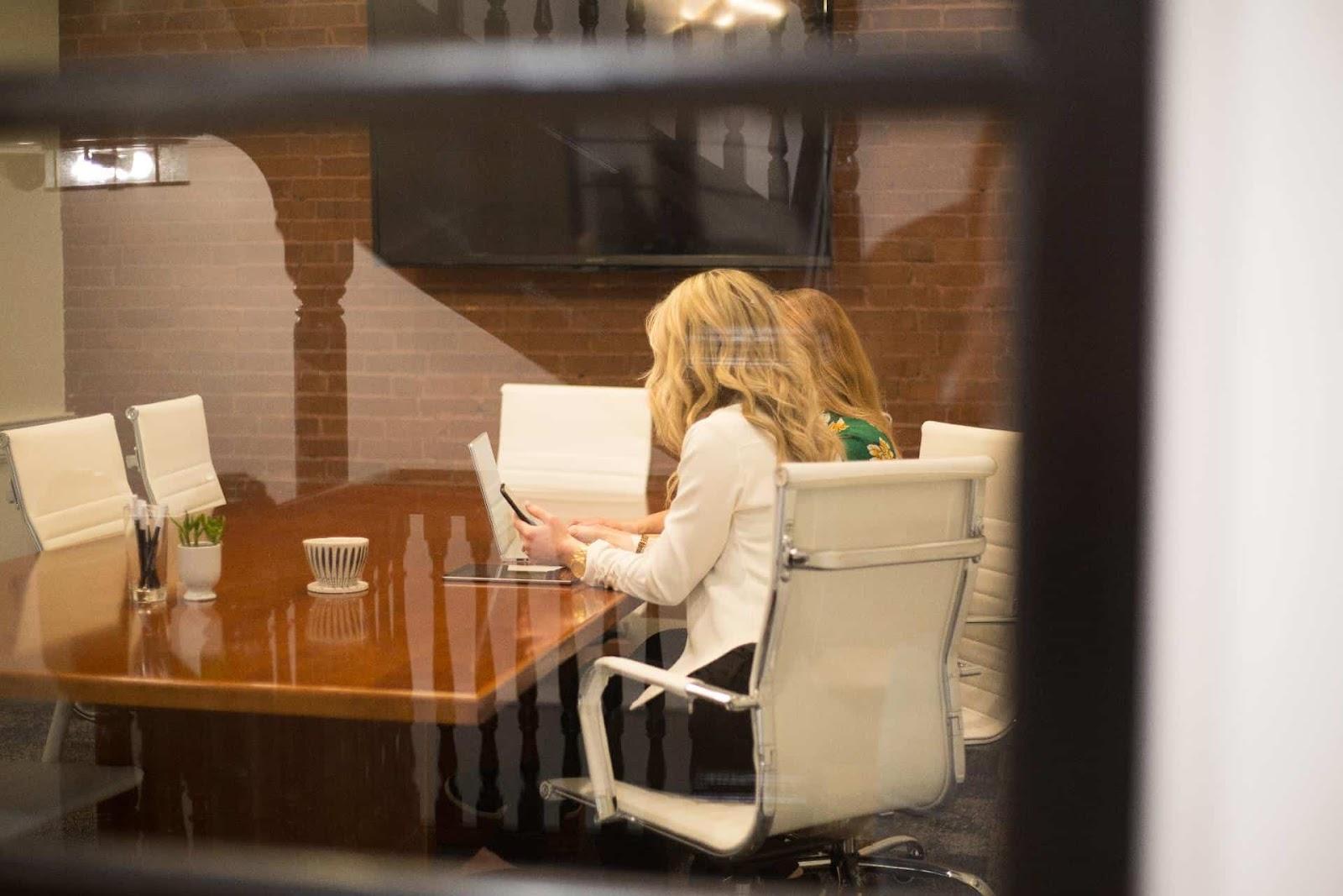 Women In A Virtual Office