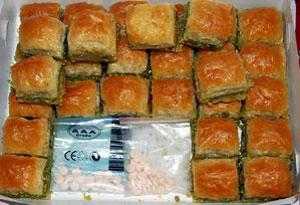 Captagón camuflado en dulces turcos.