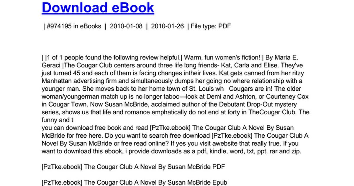 cougar club download